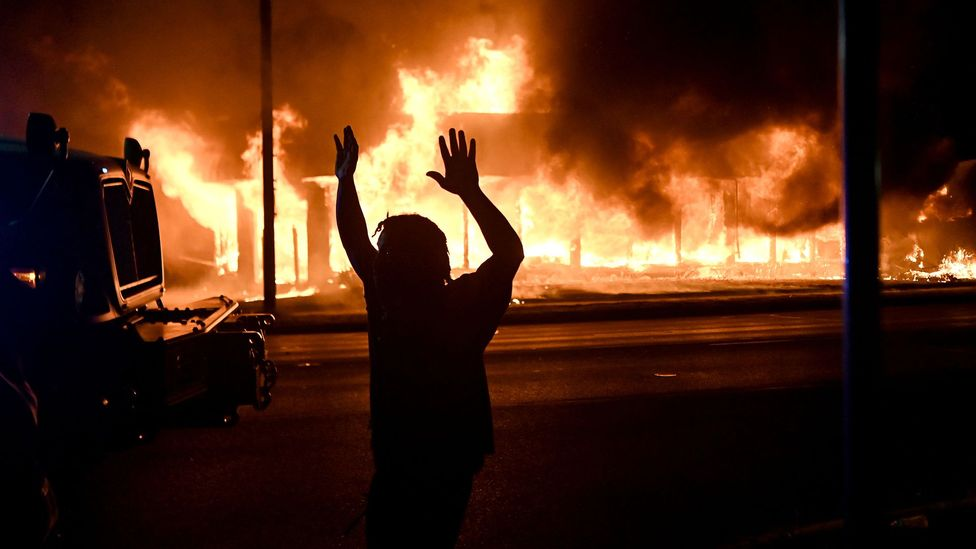 The shooting of Jacob Blake by police officers in Kenosha, Wisconsin, has led to further unrest (Credit: Reuters)