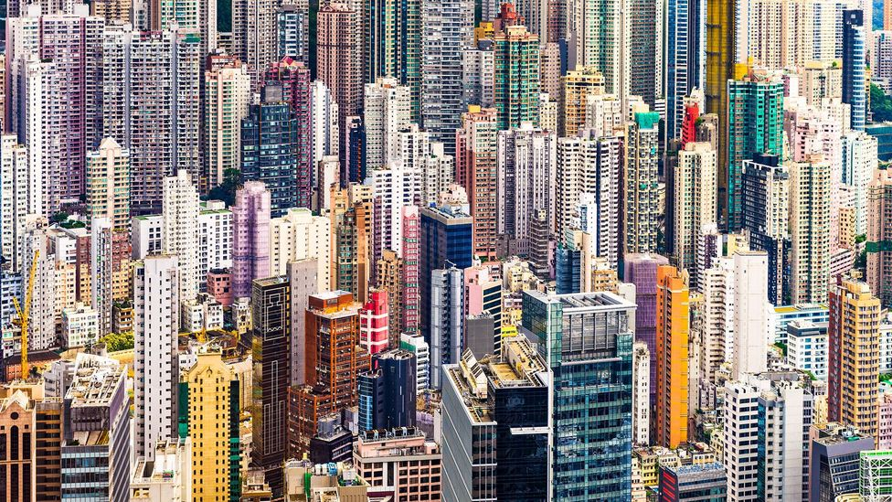 Hong Kong is home to 7.5 million people most of whom live on just a quarter of the land (Credit: Alamy)