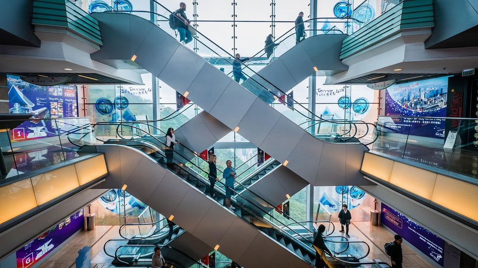 The many malls occupying commercial space has seen Hong Kong dubbed a 'shopper's paradise' (Credit: Alamy)