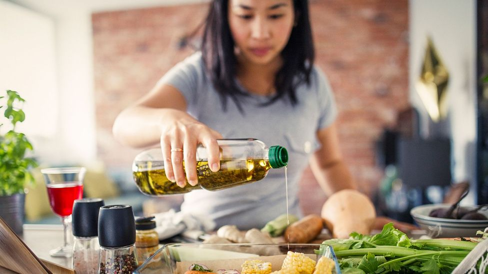 Experts advise opting for an oil lower in saturated fat, and higher in other types of fats that are healthier in moderation (Credit: Getty Images)