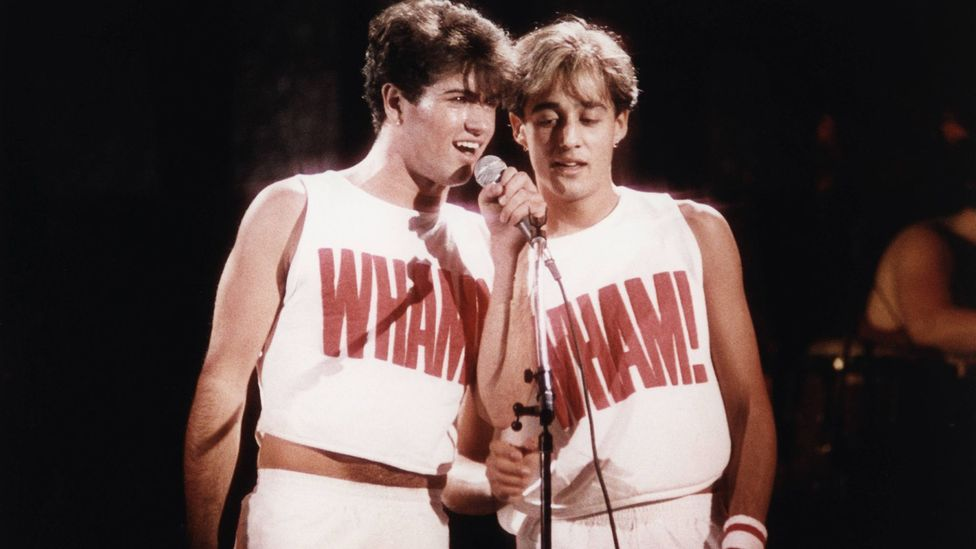 Michael made his name alongside school friend Andrew Ridgeley as part of the exuberant duo Wham! (Credit: Getty Images)