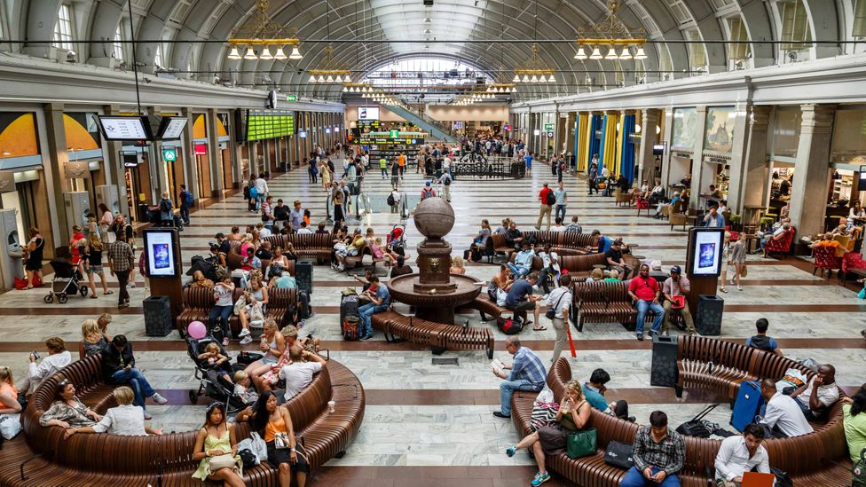 Sweden's Stockholm Central Station has been partially powered by the heat of the many travellers inside (Credit: Alamy)
