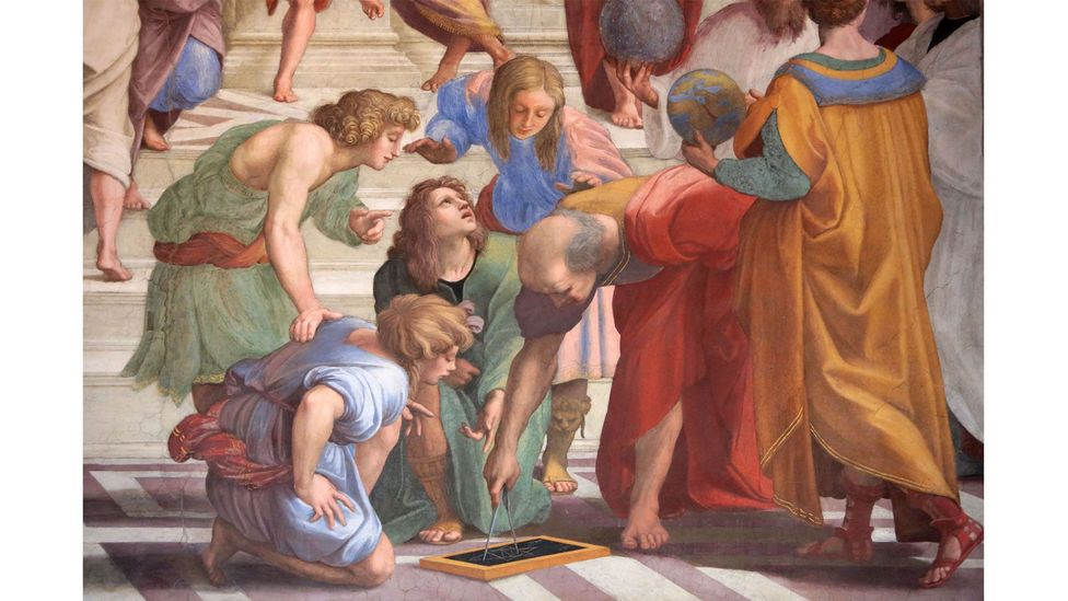 Many of the figures Raphael painted in the School of Athens could represent two different characters - was this ambiguity deliberate? (Credit: Alamy)
