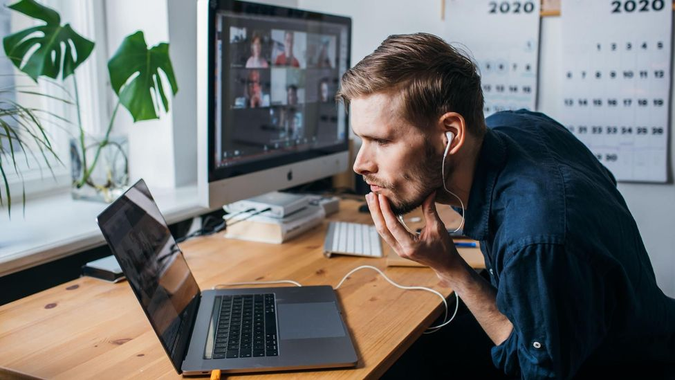 Long days spent in front of video calls have prompted many – including men – to consider cosmetic surgery procedures (Credit: Alamy)