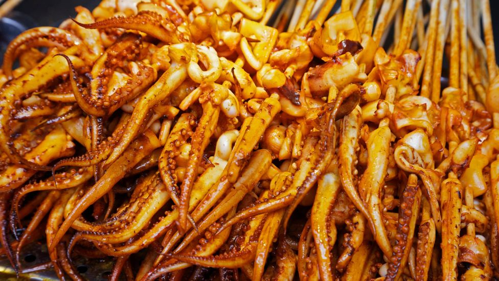 Squid are highly sought-after in many countries, and China is the most active nation in squid fishing (Credit: Alamy)