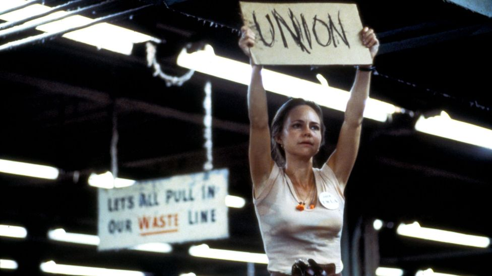 Sally Field's Norma Rae remains one of American cinema's most extraordinary heroines: a single, sexually liberated mother and union organiser (Credt: Alamy)
