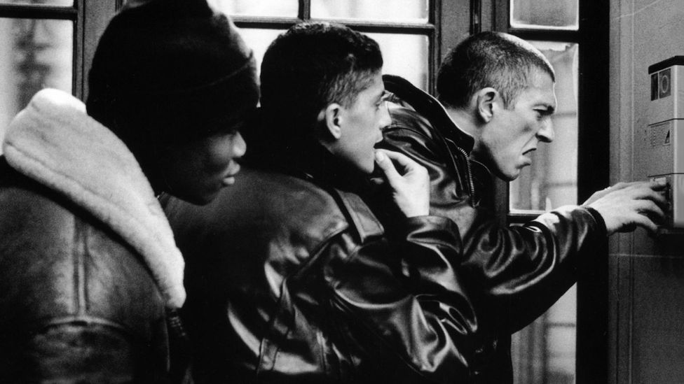 La Haine tells the story of three young men - one black, one Arab, one Jewish - living in a working-class suburb of Paris (Credit: Alamy)