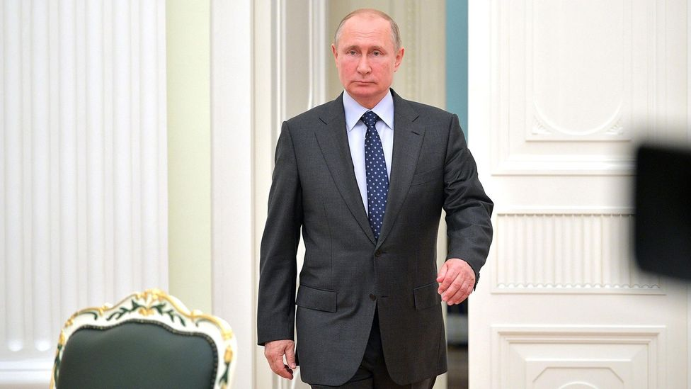 "The way we walk can be distinctive and can often betray information about ourselves, such as with Vladimir Putin's ""gunslinger"" gait (Credit: Alamy)"