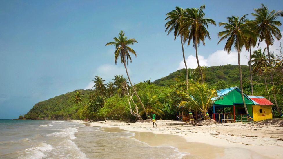 Islanders speak an English-based Creole and are typically Baptists or Rastafarians (Credit: Hemis/Alamy)