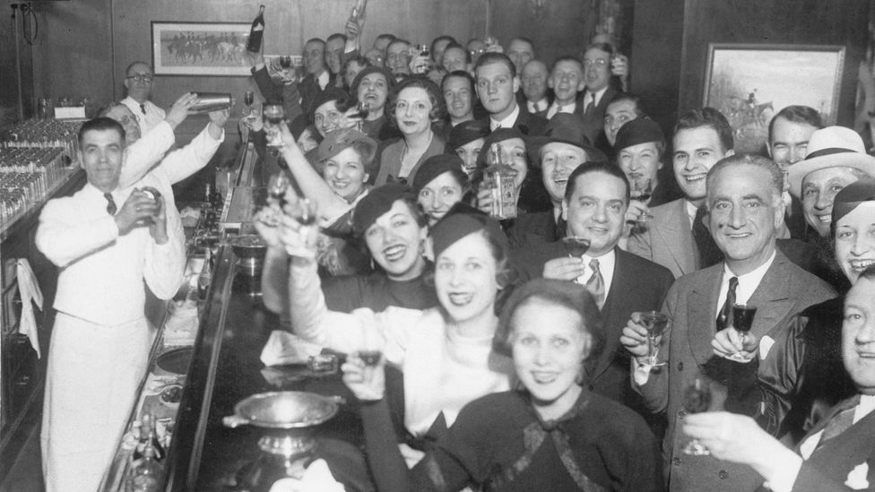 The end of prohibition in the US in 1933. The banning of alcohol had actually led to more violence once an underground market emerged amid nationwide restrictions (Credit: Alamy)