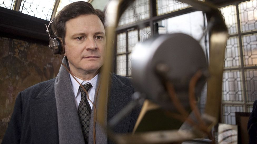 Actor Colin Firth portrayed King George VI as he tried to control his stutter for his first wartime broadcast after the start of World War Two (Credit: Alamy)