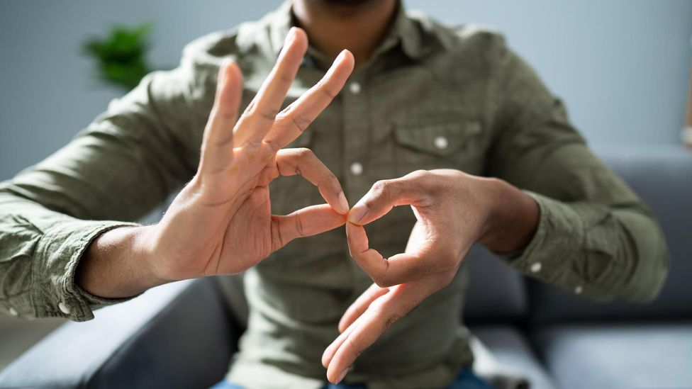 """For conversations in which there is a deaf minority using an interpreter, the person must """"pin"""" the interpreter's screen, foregoing the rest of the participants (Credit: Alamy)"""