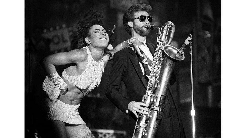 Eric Leeds (pictured with Cat Glover) played saxophone and flute for Prince, and recalls recording almost every day (Credit: Getty Images)