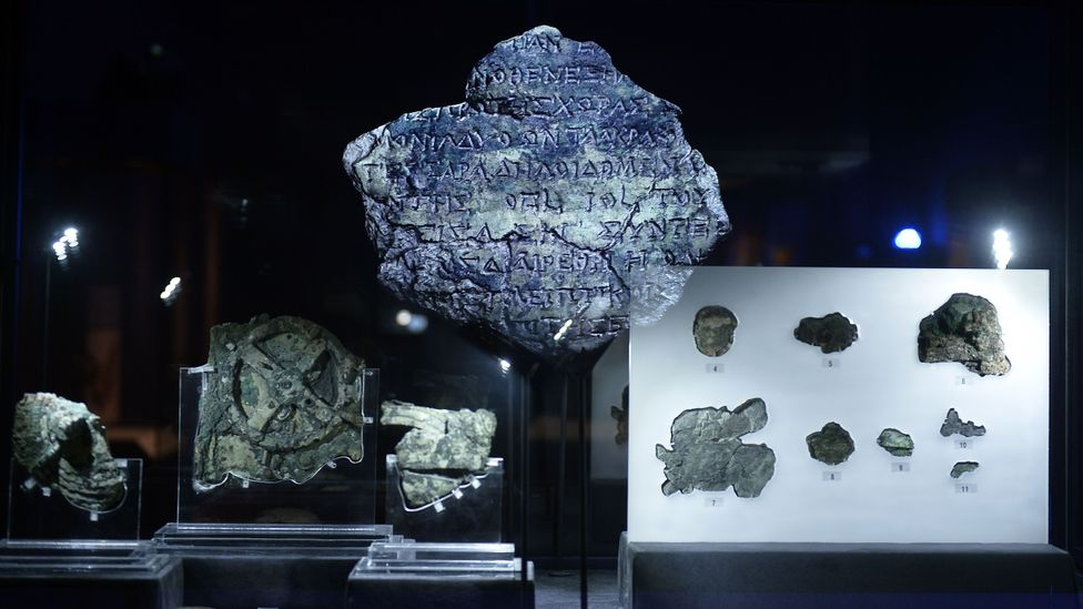 The Antikythera mechanism was a complex mechanical computer that tracked astronomical phenomena and the cycles of the Solar System (Credit: Louisa Gouliamaki/Getty Images)