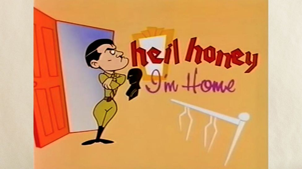 From the animated title sequence onwards, the ill-fated Heil Honey I'm Home! was always bound to cause controversy (Credit: Sky)