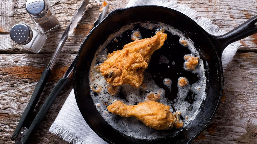 A 1747 British recipe appears to be the first evidence of frying chickens in hog fat (Credit: Fudio/Alamy)