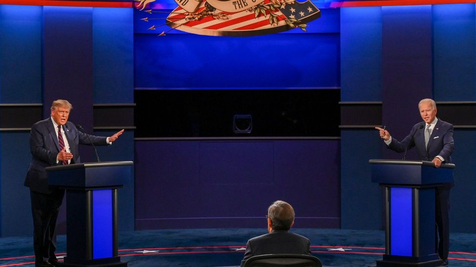 Donald Trump and Joe Biden debating on 29 Sept 2020