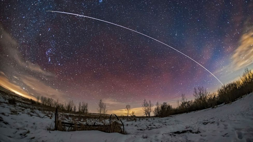 Tracking fast moving satellites like the International Space Station has helped to improve the accuracy of celestial navigation (Credit: Alamy)