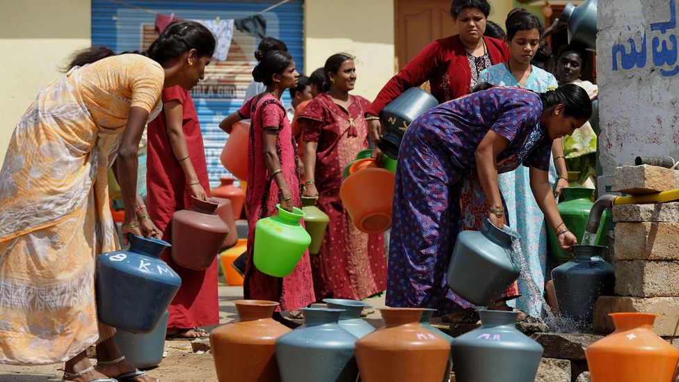 The piped water network of Bangalore isn't enough to support its large and fast-growing population (Credit: Getty Images)