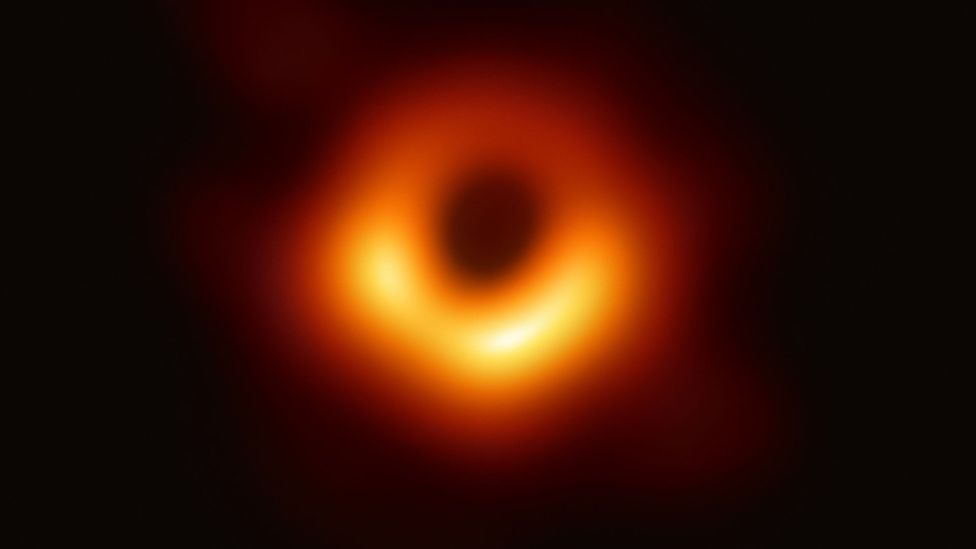Not even light can escape from a black hole, which means it is only possible to see them from the shadow they create (Credit: Esa)