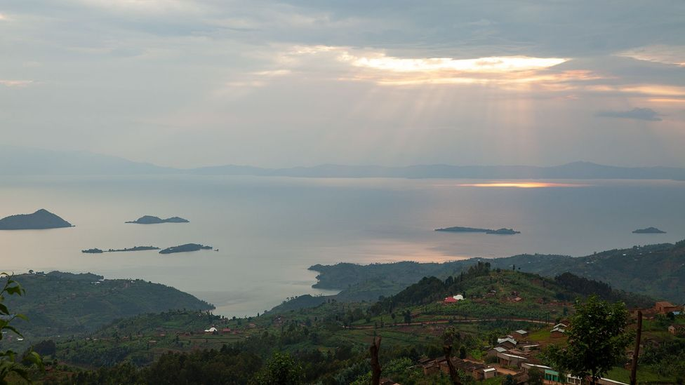 The high levels of carbon dioxide and methane in the deep waters of Lake Kivu could cause a devastating limnic eruption if disturbed (Credit: Richard Gray)