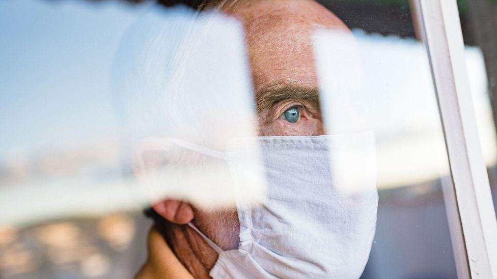 Older man in mask (Credit: Getty Images)