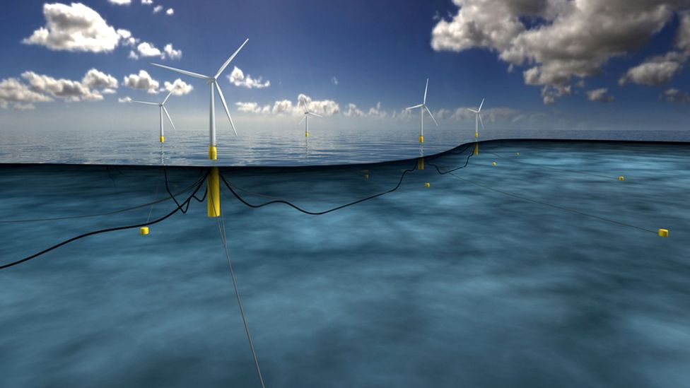 The advantage of floating turbines is that they can access large swathes of outlying ocean waters (Credit: Equinor Statoil)