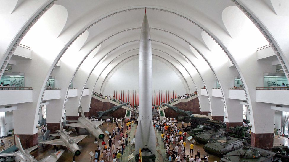 A nuclear missile on display in China (Credit: Getty Images)