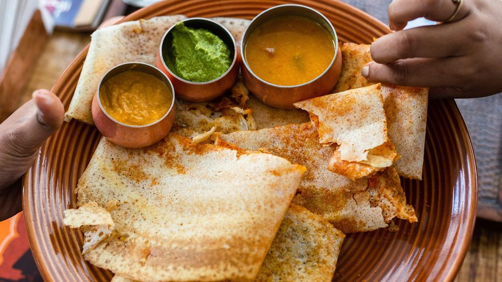 Dosai is a go-to India breakfast food that has evolved into a fast food item (Credit: Sanjay Borra/Alamy)