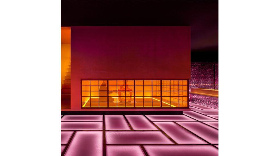 Shanghai's Omakase Kaiseki Cuisine is saturated with pink lighting (Credit: Hip-Pop Design Co/ Dezeen Awards 2020)