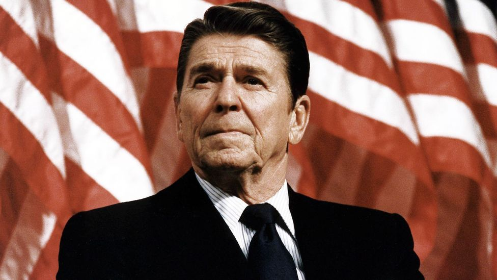 Critics of Ronald Reagan believe he was tainted by his 'halting and ineffective' reaction to the Aids crisis, in the words of biographer Lou Cannon (Credit: Alamy)