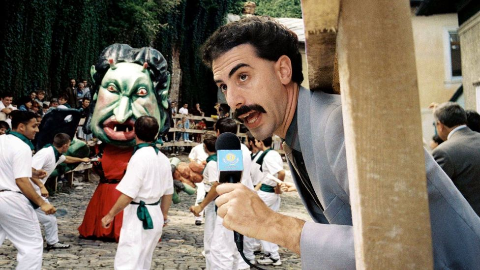 Arguably, Sacha Baron Cohen's Borat has kept the gonzo comic spirit of Jackass alive in film and TV (Credit: Alamy)