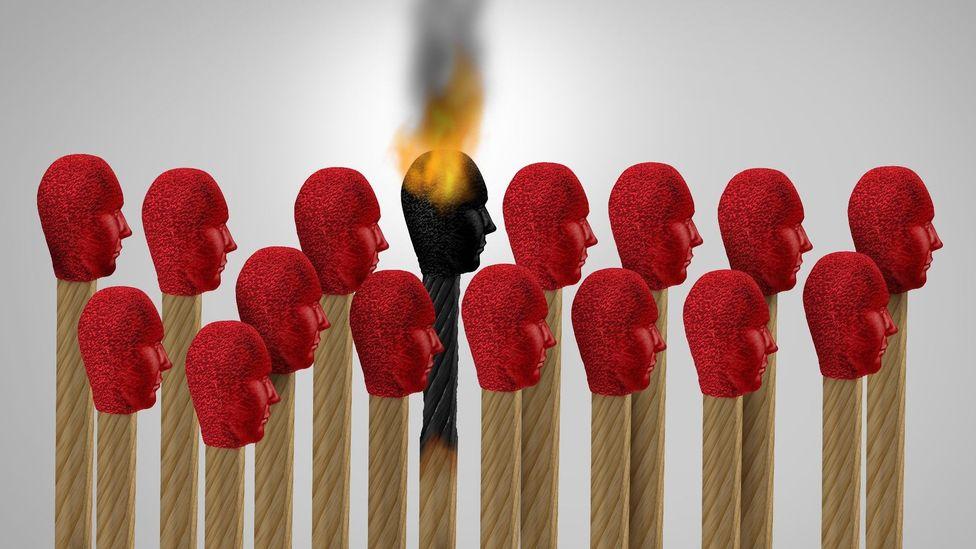 File image of a burning match