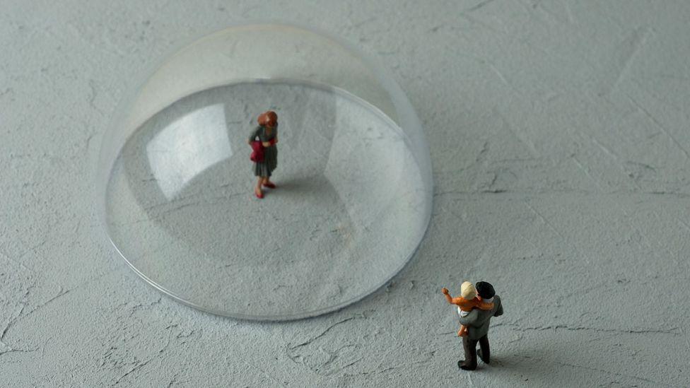 Toy figure in plastic bubble (Credit: Hamzaturkkol/Getty Images)