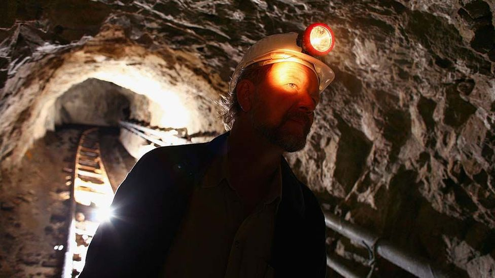 Descending a gold mine in Scotland (Credit: Jeff J Mitchell/Getty Images)