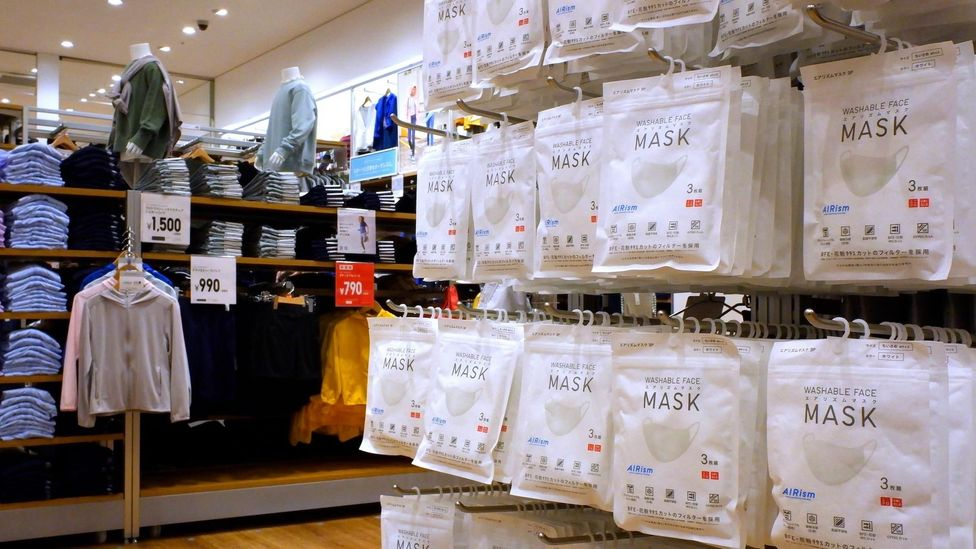 Uniqlo's seemingly simple AIRism masks have become a global sensation, becoming highly coveted in more than a dozen markets globally (Credit: Alamy)