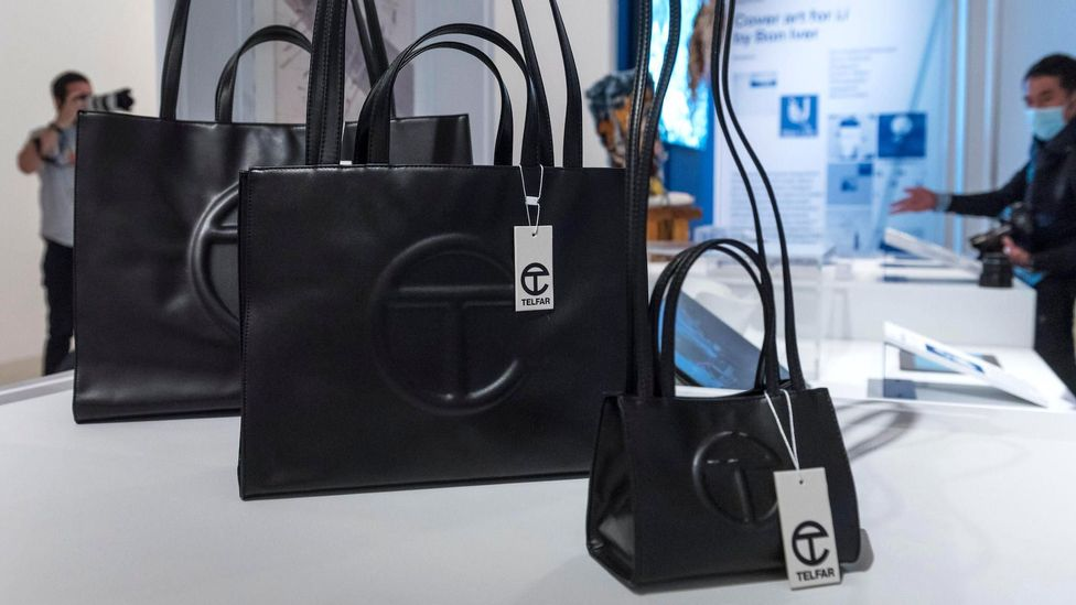The Telfar Shopping Bag, a handbag priced much lower than many other coveted accessories, has vaulted into the spotlight as a must-have item (Credit: Alamy)