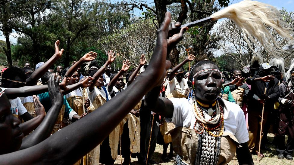 The Sengwer people of the Embobut Forest in Kenya have protested about the multiple evictions their community has faced (Credit: Getty Images)