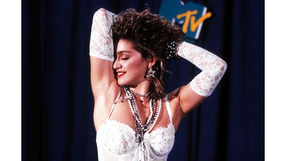 """Like a Virgin has been credited as the song that cemented Madonna's reputation as a pop music icon; she described it as """"always absolutely ambiguous"""" (Credit: Alamy)"""