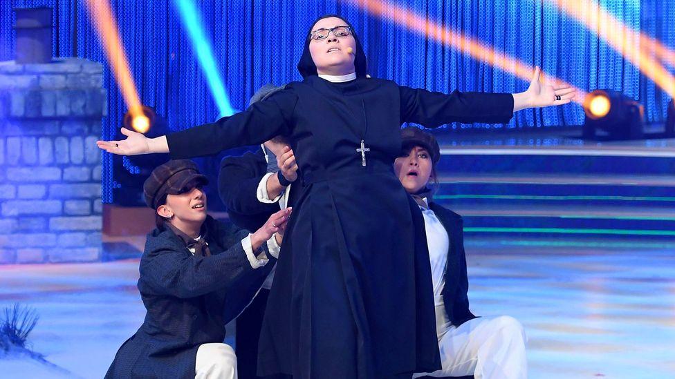 Italian nun Sister Cristina recorded a version of Like a Virgin in 2014 (Credit: Alamy)