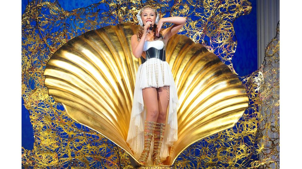 Kylie is in the top echelon of live acts, with her spectacular stage productions like 2011's Ancient Greek-styled Aphrodite: Les Folies Tour (Credit: Alamy)