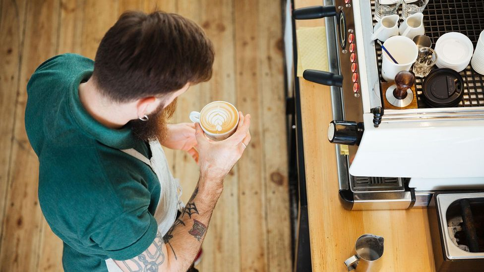 With Covid-19 lockdowns keeping workers at home, having a friendly office barista isn't so meaningful (Credit: Alamy)