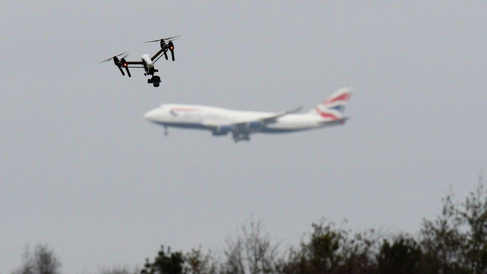 A drone flies in a west London park; as more flying objects are created, safety guidelines are becoming increasingly crucial (Credit: John Stillwell/PA Wire)