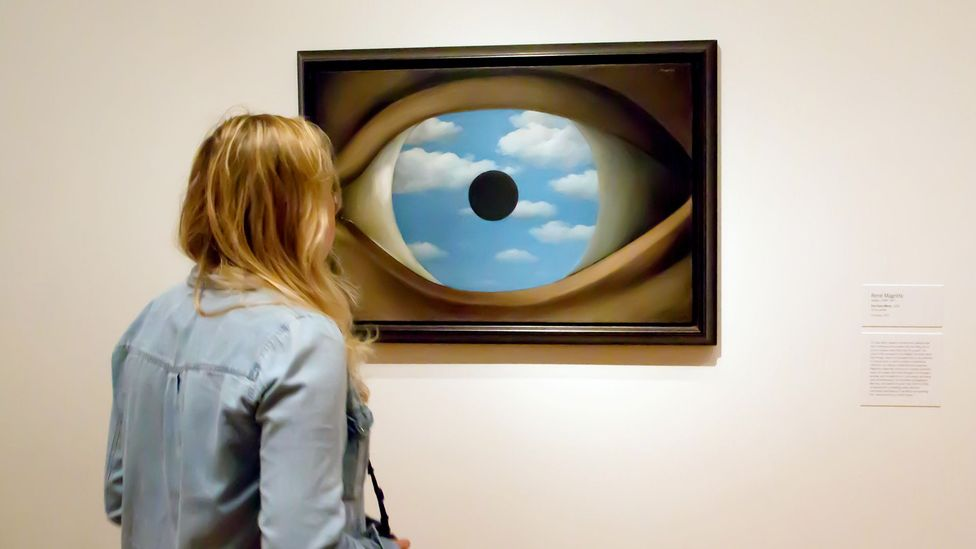 The eye fascinated Surrealists, with its threshold position between the inner self and the external world – shown here in Magritte's The False Mirror (1929) (Credit: Alamy)