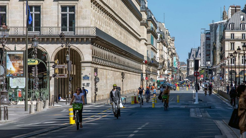 Many European cities, including Paris, have fast tracked plans to build more bike-friendly streets (Credit: Alamy)