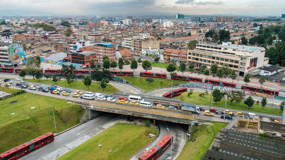 Bogotá is infamous for having the world's worst traffic, but its cycling infrastructure is considered an exemplary model of sustainable urban mobility (Credit: Alamy)