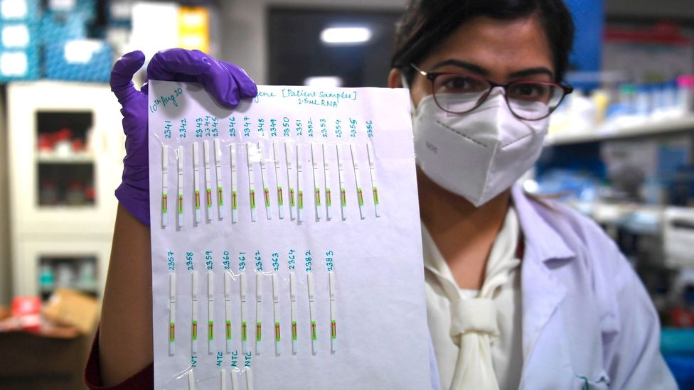 Rapid paper-based tests for Covid-19 have been developed to give help diagnose those who are infected (Credit: Getty Images)