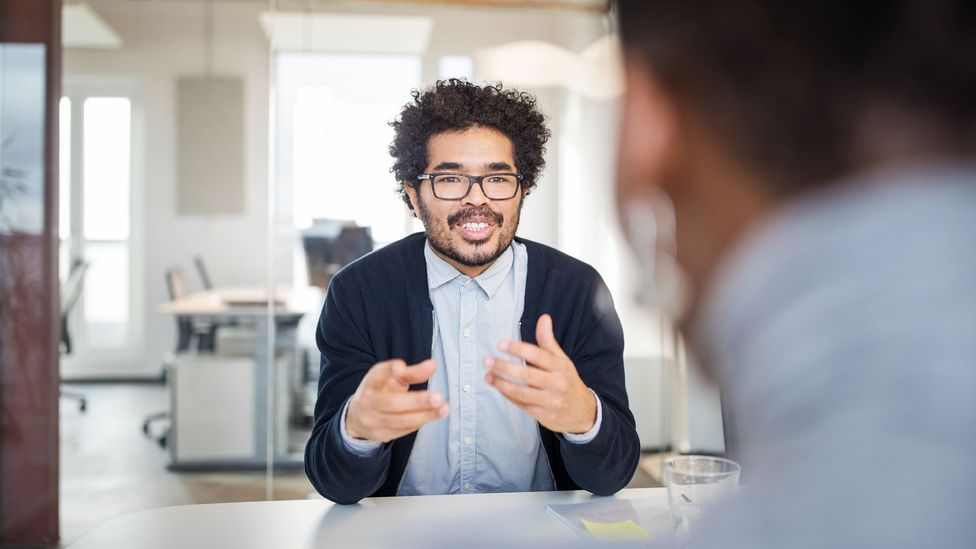 Meetings in the office might be held in different rooms, allowing us different experiences to cement the memory (Credit: Luis Alvarez/Getty Images)