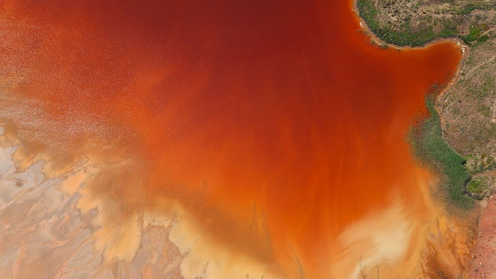 Oxidised iron minerals in the Rio Tinto mining area of Huelva province in Spain (Credit: Peter Adams/Getty Images)