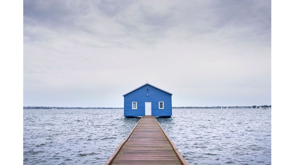 Crawley Edge boatshed, Perth, Australia – there is a pleasing symmetry to the photos (Credit: James Wong)